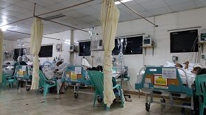 ICU of a hospital in the province